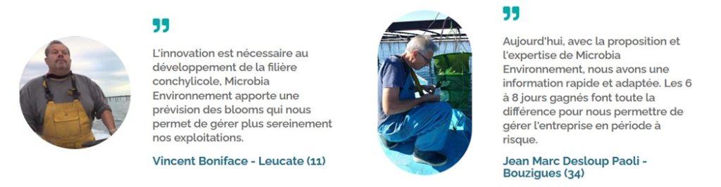 Témoignages aquaculture